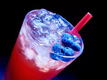 Blueberry  cocktail   on dark background