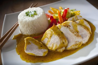 Chicken Breast with lemon and coriander sauce