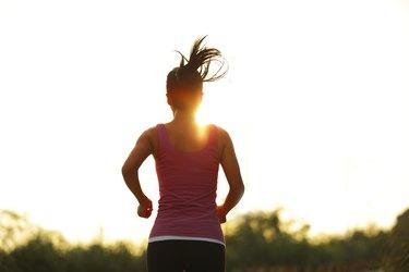 running under sunrise