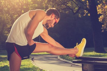 Stretching after jogging/excercise