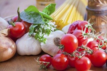 Vegetable and spaghetti pasta