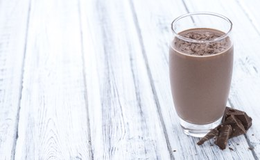 Chocolate Milk (on wooden background)
