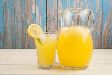 Fresh and icy lemonade
