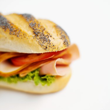 Close-up of submarine sandwich