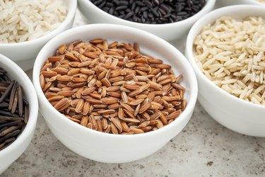 brown rice grain