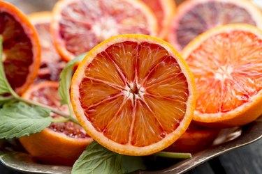 Sliced blood orange