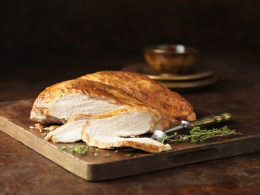 Christmas dinner. Free range butter basted turkey breast with thyme