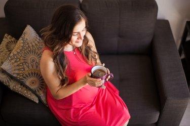Enjoying tea during pregnancy
