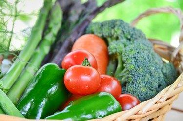 vegetables in basket