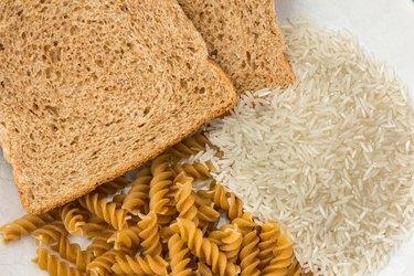 Bread, pasta and rice