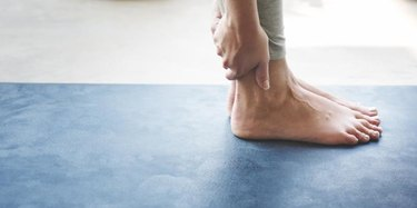 Man Yoga Practice Health Workout Concept