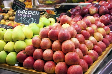 fresh fruits  in a spanish market