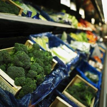 broccolis in a supermarket