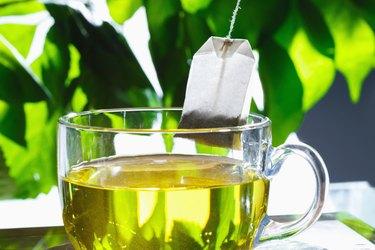 """Cup of green tea,close-up"""