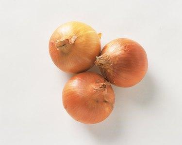 Onions, high angle view