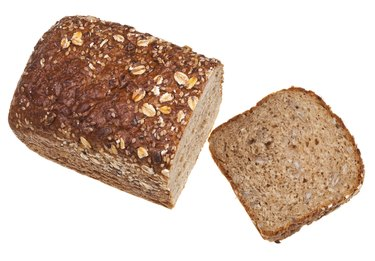 top view of grain bread loaf