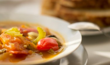 Vegetable goulash soup