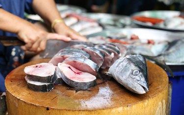 Fresh King mackerel in the market