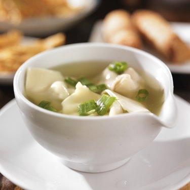 chinese food - bowl of wonton soup