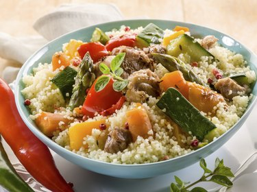 couscous with meat  and vegetables