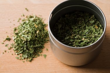 Herb in container