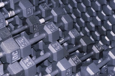 Array of dumbbells