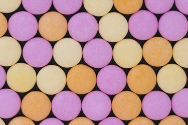 Colorful Mentos candy
