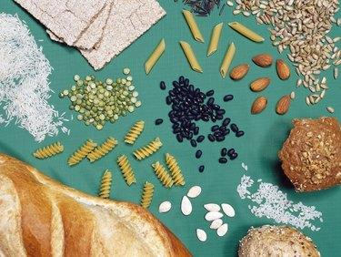 An arrangement of healthy foods