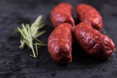 spanish traditional chorizo sausage