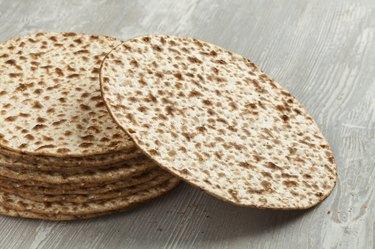 Pile of fresh matzah