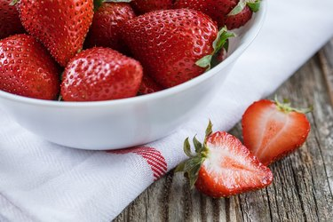 Strawberries in a Bowl, Close Up