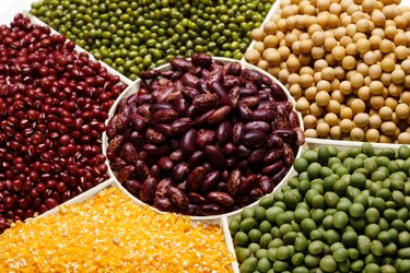 Kidney bean,soybean,green bean,red bean,corn and mung bean