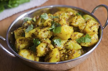 Spiced potato curry