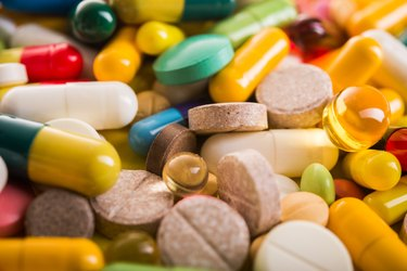 Colored pill capsule