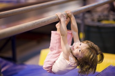 Toddler on Parallel Bars