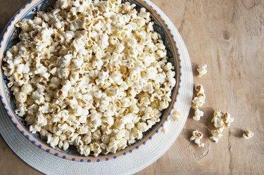 Popcorn in the bowl