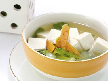Tofu and vegetable soup.