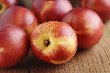 peaches ripe nectarines