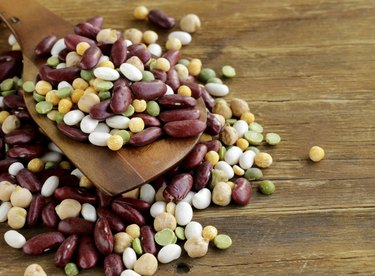 Assortment  different types of beans