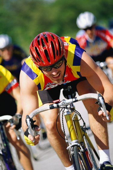 Person in bike race