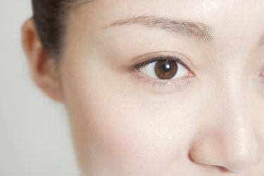 Young woman's eyes