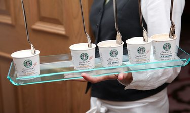 Starbucks Frappuccino Coffee Drink at RJ Cutler Rag & Bone Screening