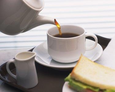 American Coffee and Sandwich, Full Frame