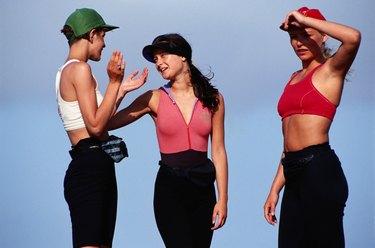 Three woman, low angle view
