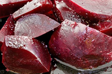 cooked vegetables beets