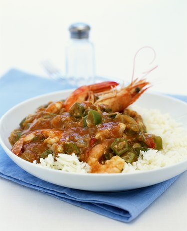 Prawn gumbo with rice