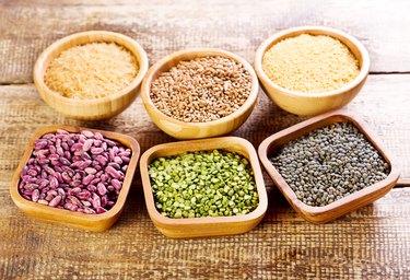 various food ingredients in a bowls