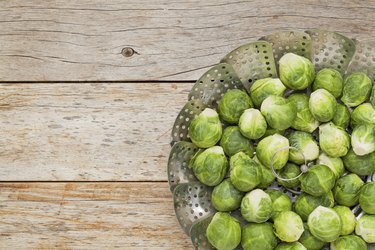 Brussels sprouts in steamer