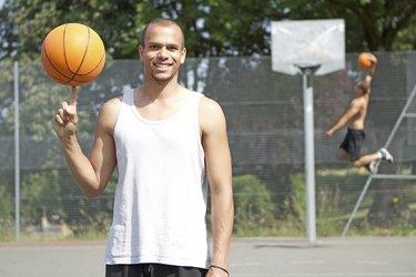 Basketball Player Smiling to Camera
