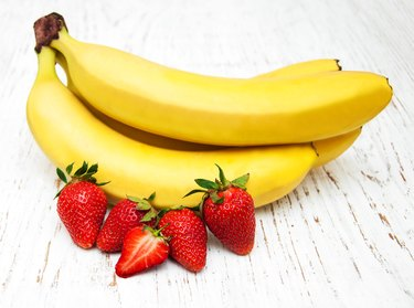 Bananas and strawberries